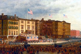 Presentation of the flag on the square by Edward Lamson Henry Tile Mural... - $64.91
