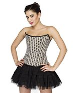 Printed Polyester Gothic Corset Burlesque Waist Training Costume Basque ... - $64.99