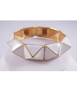 Kenneth Jay Lane Whtie Pyramid Bangle NEW - $88.21