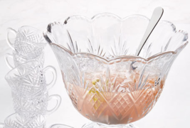 CRYSTAL CLEAR Punch BOWL Set/10 W/LADLE & CUP MADE IN CZECH REPUBLIC CRY... - $349.90