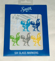 NEW Sauza Tequila (6) Rooster, Drink Beer Wine Glass Bar Markers + Temp ... - $16.81