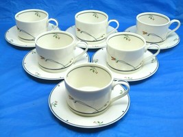 6 Gorham Ariana Town and Country Tea Coffee Cups & Saucers Bundle of 6 Sets - $28.71
