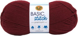 Lion Brand Basic Stitch Premium Yarn-Plum - $18.12