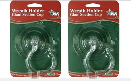 Pair of Adams Suction Cup Wreath Holders Holds Up To 10 Lbs Clear - $6.68