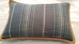 """Ralph Lauren Landings Blue Stripe Pillow 12"""" x 16"""" - $52.66"""
