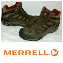 Merrell Refuge Core Hiking Trail Boots Mens 11.5 Leather Waterproof Brown - $62.36