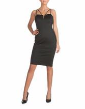 GUESS Embossed Scuba Midi Dress Black Size 2 $158 - $18.05