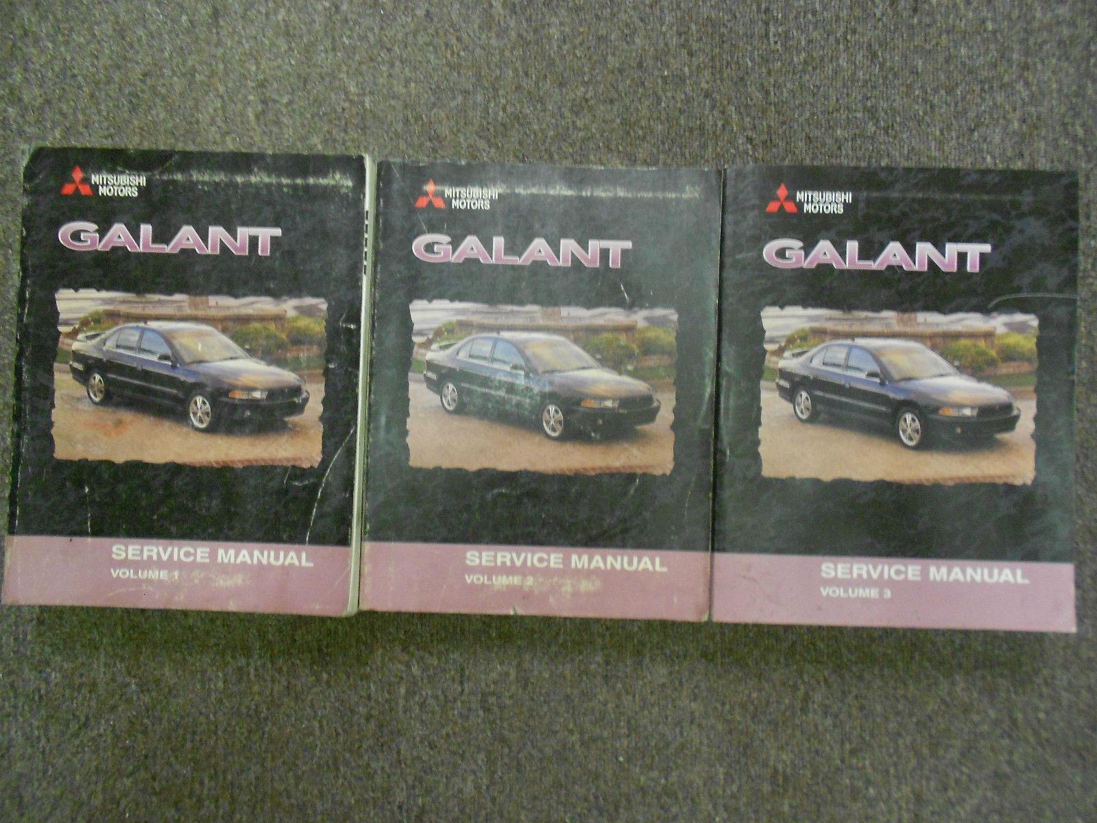 1999 2000 MITSUBISHI GALANT Service Shop Manual SET OEM DEALERSHIP BOOKS 1st EDI