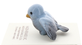 Hagen-Renaker Miniature Ceramic Bird Figurine Blue Tweetie Pa, Ma & Baby Set image 8