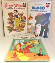 1970's Walt Disney Book Set: Snow White, Chip & Dale, Dumbo Set of 3 - $9.99