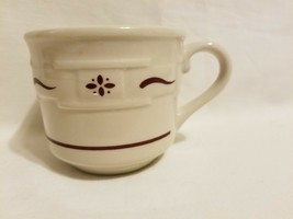 """Longaberger Pottery """"Woven Traditions"""" Red Coffee Tea Cup Mug Discontinued - $14.84"""
