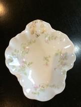 HAVILAND LIMOGES Relish DISH Blue & Pink FLOWER... - $34.65