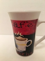 "Mug Royal Norfolk Coffee Mocha Hot Cider Cocoa 5"" t x 3 1/4"" dia top Wh... - $9.89"