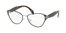 Authentic Prada Eyeglasses VPR58U 1AB-1O1 Black Silver Frames Rx-ABLE 53MM - $197.99