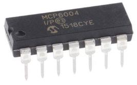 Microchip MCP6004-E/P MCP6004 Quad 1 MHz Low-Power Operational Amp (Pack... - $13.39