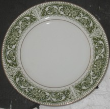 "Vintage Mikasa Fine China Coronet Green/White/Gold 6 1/2"" Bread & Butter... - $8.91"