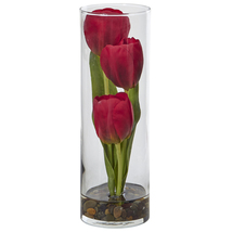 Tulip In Cylinder Glass - €48,46 EUR
