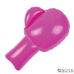 """Inflatable Pink Boxing Gloves (One Pair). 14"""" X 21"""""""