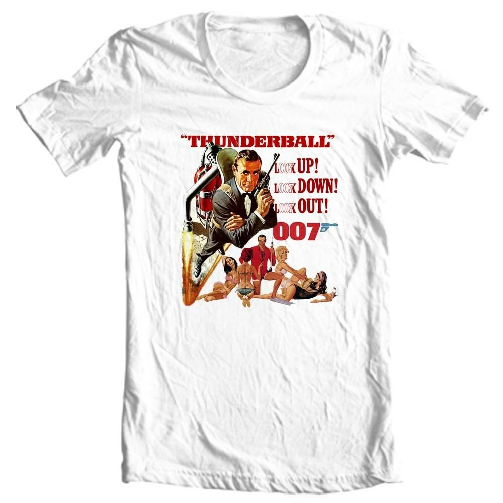 Thunderball t-shirt 007 Sean Connery original James Bond movie graphic tee