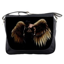 Messenger Bag Angel Wings Dark Angel In Black Magic Nature Animation Design Fant - $30.00