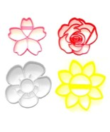 Spring Flowers Flower Plant with Detail Set of 4 Cookie Cutters USA PR1591 - $10.99