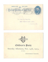 Sc UX11 Postal Card 1903 St Louis MO Worlds Fair Slogan Cancel Union Clu... - $9.99