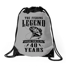 The Fishing Legend Reeling Them In For 40 Years Drawstring Bags - $30.00