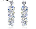 Ovski drop earrings women wedding party fashion accessories silver colors piercing thumb155 crop