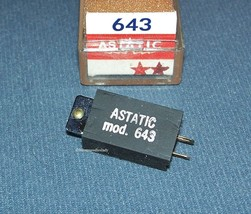 Astatic 643 PHONOGRAPH CARTRIDGE NEEDLE Electro-Voice EV 5465 Delmonico EG-8813 image 2