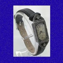 Vintage Mint Silver & Marcasite Ladies Bracelet Deco Coctail Wrist Watch... - $304.85