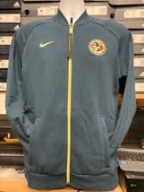 nike club america Home Jacket Cotton 2020 Navy Blue Yellow Size Mans Lar... - $69.30