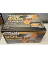 CHAINSAW SHARPENER Chicago Electric Power Chain Saw TOOL NEW NIB Grindin... - $33.61