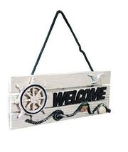 Panda Superstore [Helmsman] Wall Decor Home Decorative Sign Wood Welcome Sign