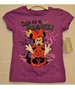 Disney Store Minnie Mouse Halloween T-Shirt Cute As A Pumpkin Girls 2/3 NWT - $9.49
