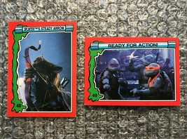 1991 Topps Teenage Mutant Ninja Turtles TMNT II Movie Cards Lot: #48 & #49 - $3.92
