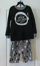 Carter's 2 pc Micro Fleece Pajamas Space Explorer Black/Gray   Boys Sz 4... - $16.83