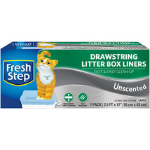 Fresh Step Drawstring Litter Box Liners 7/Pkg-Large Unscented - $8.64