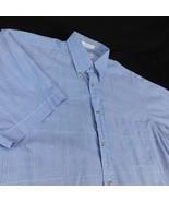 Burberrys of London Blue Plaid Short Sleeve Shirt Sz M Button Dn Collar - $32.99
