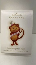 Hallmark Keepsake Granddaughters Rule! Monkey Crown Banner 2009 NOS - $5.89