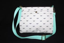 NWT! Fossil Keyper Top Zip Shoulder/Crossbody bag in Bone White & Mint Green. - $59.00