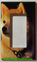 Akita dog Toggle Rocker Light Switch Power Outlet Wall Cover Plate Home decor image 2