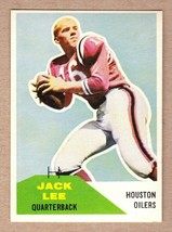 1960 Fleer #38 Jacky Lee Houston Oilers AFL 1st season/Univ of Cincinnat... - $6.63