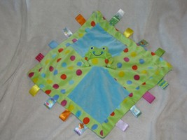 Taggies Signature Collection - Spotted Frog Character Blanket Satin Mary Meyer - $54.44