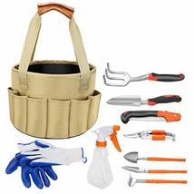 Garden Tool Set, 10 Piece Heavy Duty Gardening Tools with Gardening Rake... - $36.45