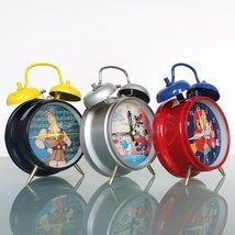 Disney Alarm CLOCK Mantel WIND UP Working Donald Duck Goofy Hercules Win... - £92.32 GBP