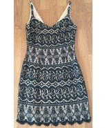 Niteline Dress Size 2 Black Beaded Lace Fully Lined - $29.70