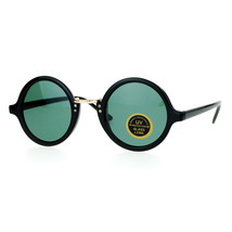 Glass Lens Sunglasses Vintage Designer Fashion Round Circle Frame - $8.95