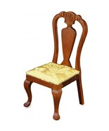Dollhouse Dining Chair Gold Damask 1.754/3 Reutter Upholstered Miniature - $19.22