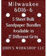 Milwaukee 6016-6 - 1/4 Sheet - 17 Grits - No-Slip - 5 Sandpaper Bulk Bun... - $7.14