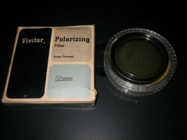 Vintage Vivitar 52mm Double Threaded Circular Polarizing Filter Japan 2X... - $10.88